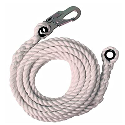 Fall Tech 8175 75-Feet Vertical Lifeline with Snap Hook and Thimble End