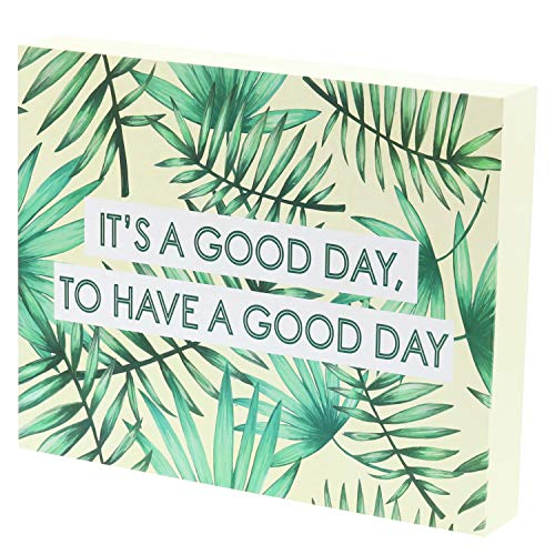 Barnyard Designs It's a Good Day to Have a Good Day Box Sign Tropical Beach Decor Inspirational Positive Quote Sign Home Wall Decor 10