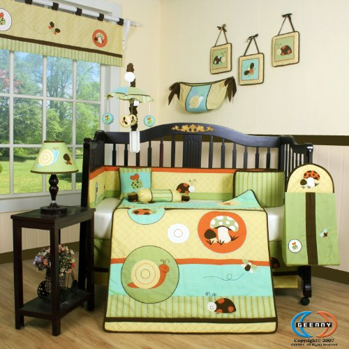 Boutique Garden Paradise 13PCS CRIB BEDDING SET