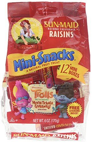 Sun Maid Raisins Mini Snacks 12 ct, Pack of 3 by Sun Maid