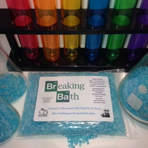Breaking Bath 100g BUBBLEGUM Scented Bath Salts No1 Gadget Store