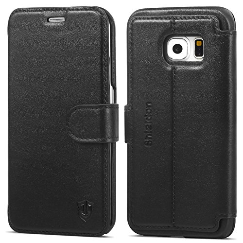Wallet Case For Samsung Galaxy S6 edge (Black) - 6