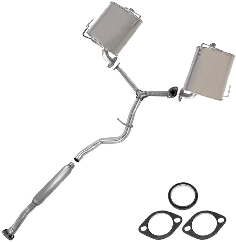 resonator pipe muffler exhaust system kit fits 2002-2005 Subaru Forester 2.5L