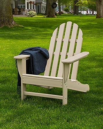 POLYWOOD AD4030SA Classic Outdoor Adirondack Chair, Sand