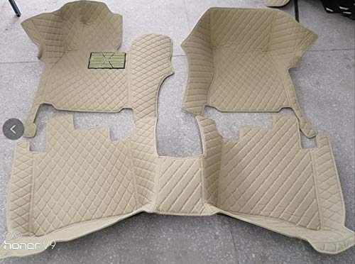 (YAOJINYI XPE Leather 5D Diamond Designed No Smell Anti-Slip car Floor mats for Bentley Flying spur 2010-2012 4 Seats (Beige))