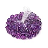 Homeford Glass Marble Gems Vase Filler 1.1 LB Bag (Purple)