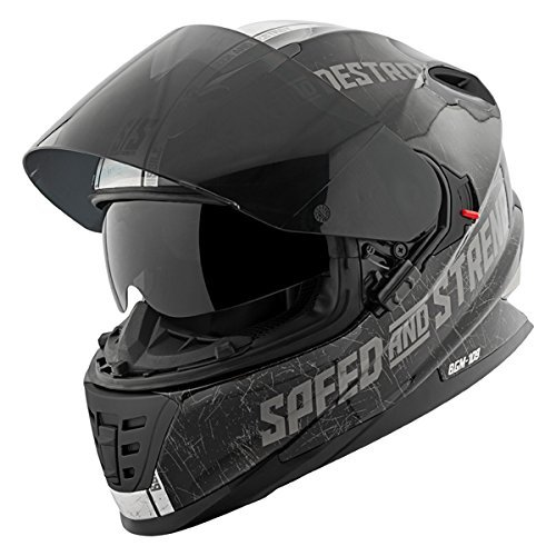 Speed & Strength SS1600 Helmet - Cruise Missile (Large) (Black/Silver)