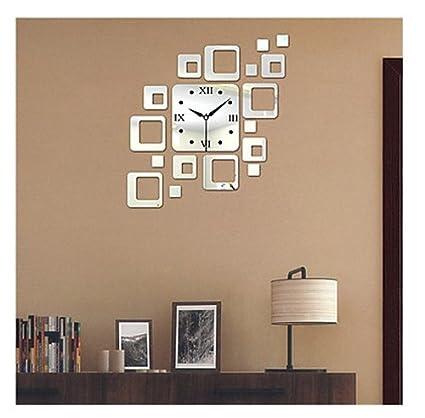 Set, adhesivo para pared reloj de pared relojes tamaño grande decorativo estilo moderno PS Bloquear