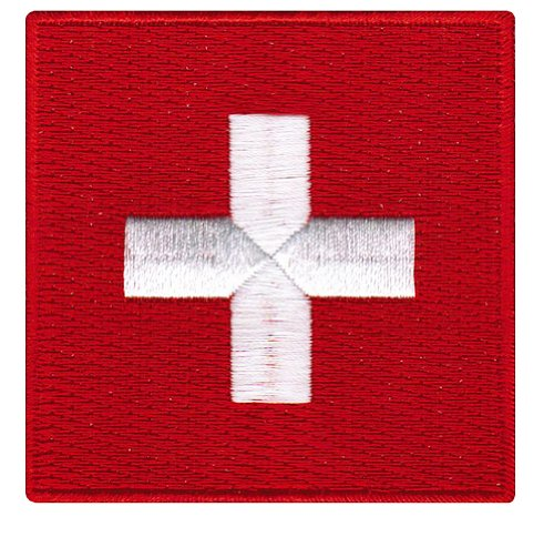 Switzerland Flag Embroidered Patch Swiss Iron-On CH National Emblem