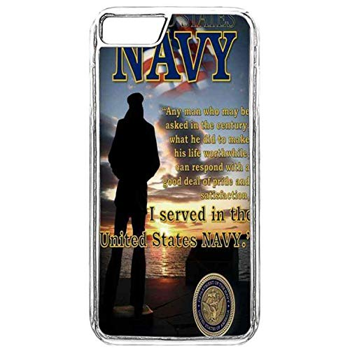 iPhone 8 Plus Clear Case,Proud US Navy Man iPhone 7 Plus Case,iPhone
