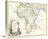 Wall Art Print entitled Vintage Map Of Africa (1762) by Alleycatshirts @Zazzle | 48 x 34