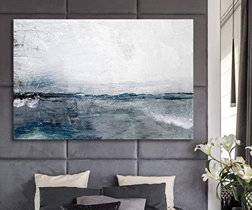 Abstract Ocean Seascape Painting on The Wall