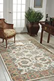 Nourison India House (IH05) Ivory/Gold Runner Area Rug, 2-Feet 3-Inches by 7-Feet 6-Inches (2'3'' x 7'6'')