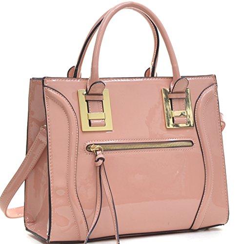 Dasein Vegan Leather Mini Satchel - Pink