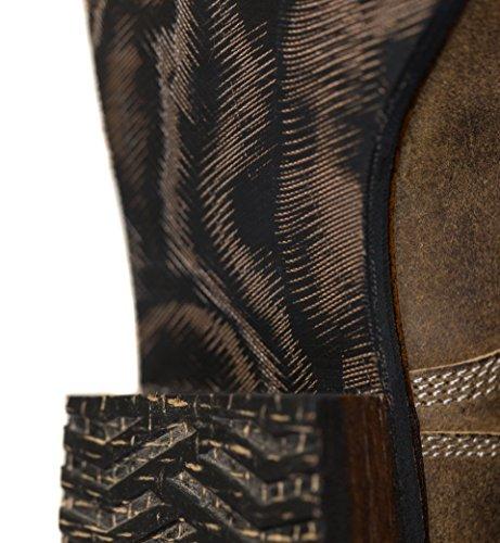 Stivali Da Strada Ranch Mens Boondocker Vintage Marrone Militare Lace-up Goodyear Stivali Welted
