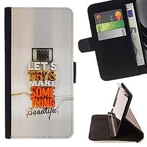 For Sony Xperia Style T3 Case , Pareja moderno Cita regalo Arte Pop Amor- la tarjeta de Crédito Slots PU Funda de cuero Monedero caso cubierta de piel