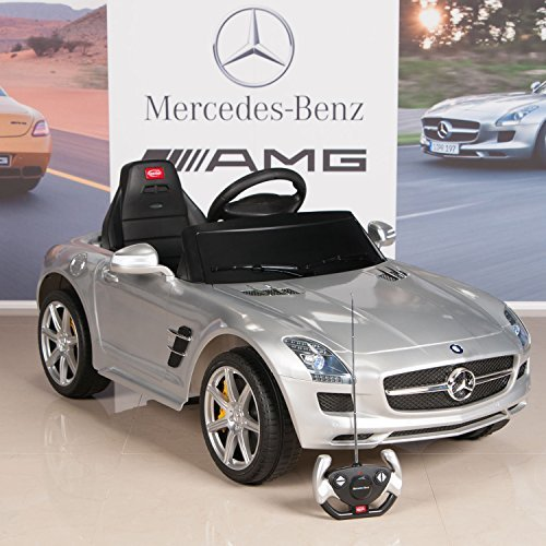 Mercedes benz sls amg 6v kids ride on battery powered for Mercedes benz car battery