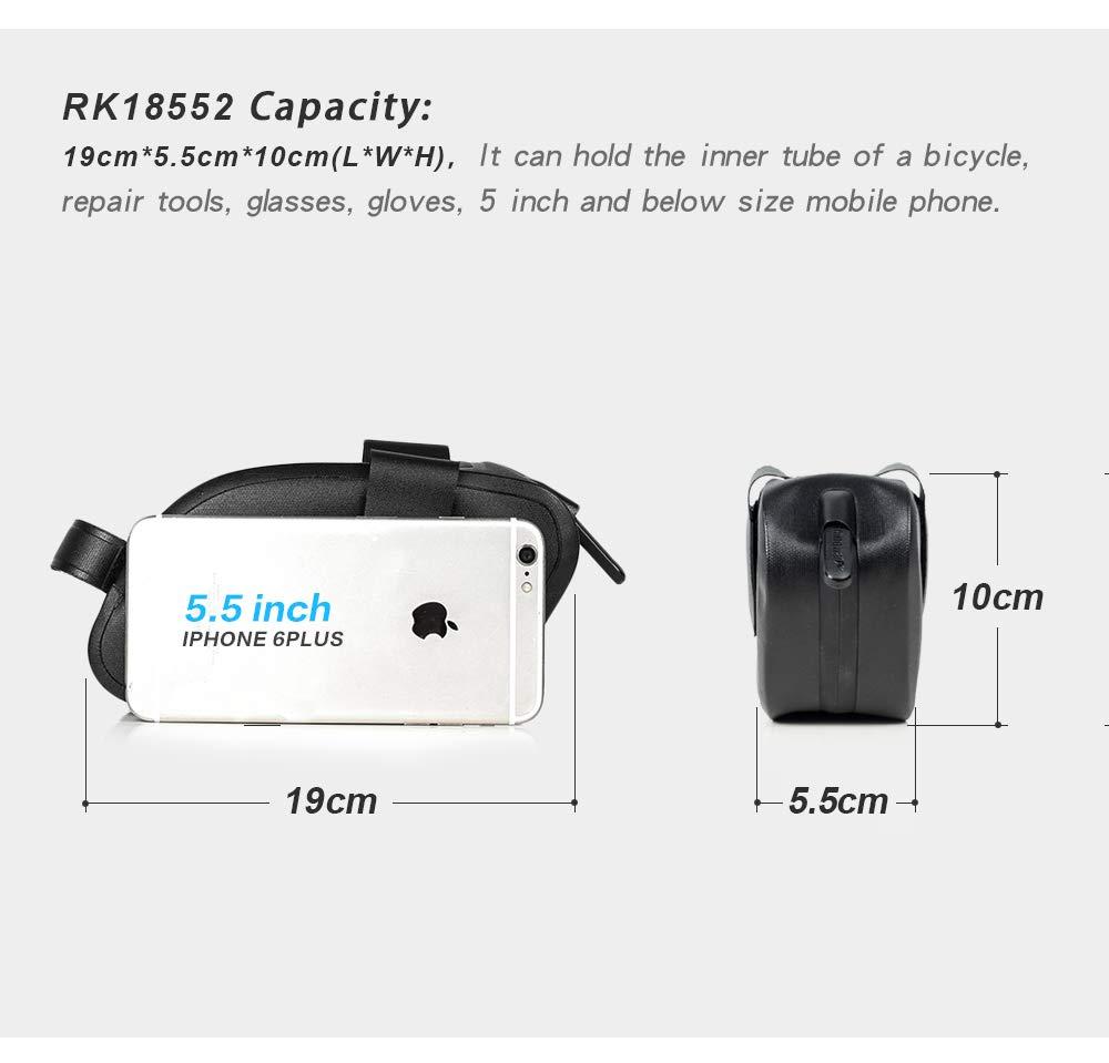with Mobile Phone Bracket 1.2L//1L Waterproof Bike Saddle Bag Wedge Pack Pannier Storage Bag Cyling Seat Bag Pack