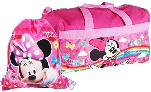(Disney Accessories Minnie Mouse Duffel Travel Bag & Sling Bag)