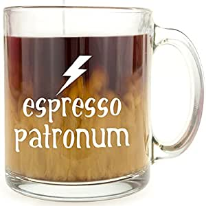 Espresso Patronum - Glass Coffee Mug - Makes a Great Gift for Harry Potter Fans!