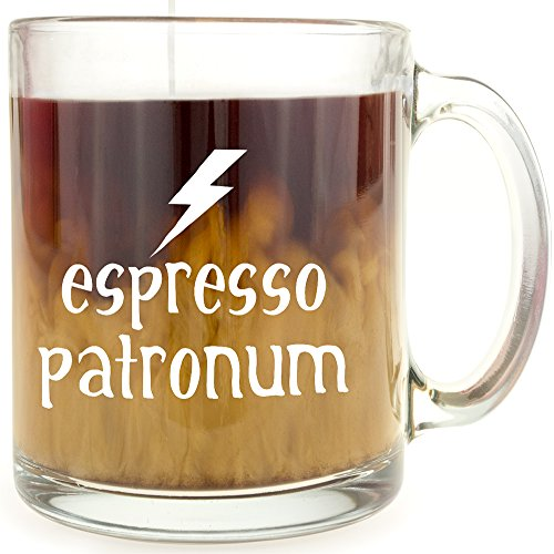 Espresso Patronum Harry Potter Glass