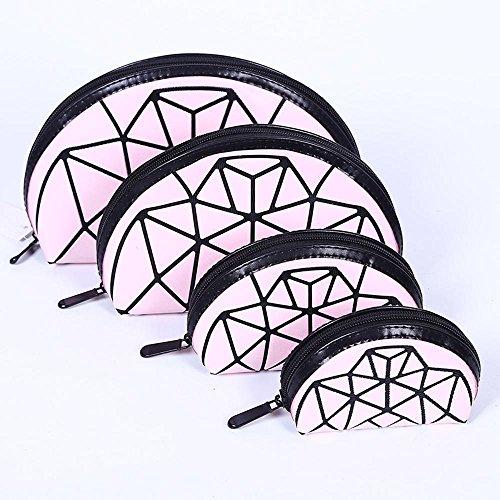 Aoligei 0 portefeuilles, quatre pièces, moitié un gommage de Dame du demi-cercle, cube Diamond Japonais-style sac à main E