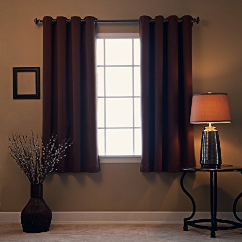"Gorgeous Home (#32 ) 1 PANEL CHOCOLATE BROWN SOLID 63 "" LENGTH SIZE THERMAL FOAM LINED BLACKOUT HEAVY THICK WINDOW CURTAIN DRAPES SILVER GROMMETS"