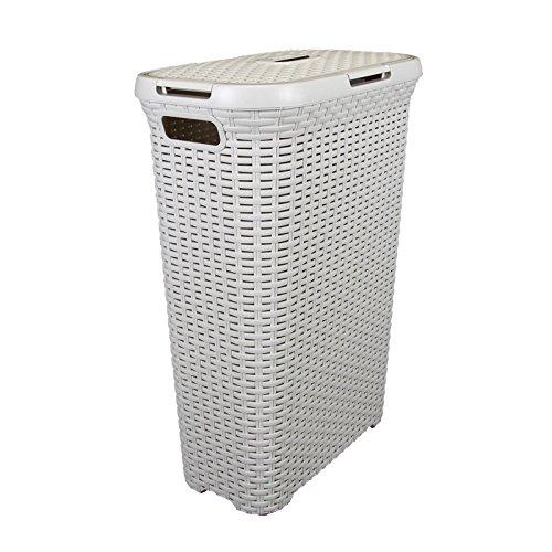 Waschekorb Rattan 40l 45x27cm Badutensilien Aufbewahrung Kunststoff