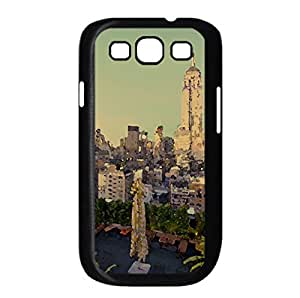 Empire State Building At Sunset Watercolor style Cover Samsung Galaxy S3 I9300 Case