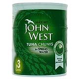 John West Tuna Chunks in Spring Water (3x160g)