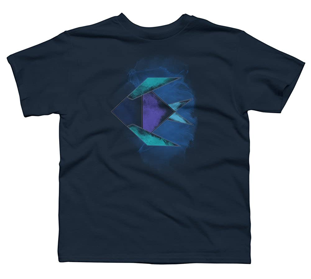 Design By Humans Origami Fish Boys Youth Graphic T Shirt