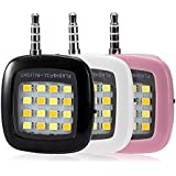 Bluebill Basic MINI Portable 16 LED Spotlight Smartphone LED Flash Fill Llight for All Devices for External Flash Fill Light Self (Assorted)