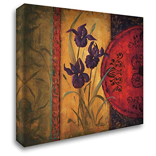 Iris Fusion I 28x28 Gallery Wrapped Stretched Canvas Art by Wacaster, Linda