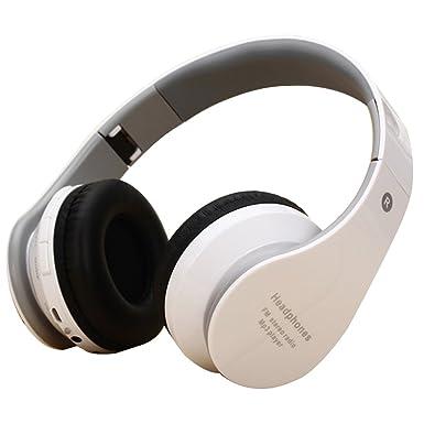 Auriculares Bluetooth, auriculares inalámbricos Bluetooth auriculares de diadema retráctil auriculares con micrófono (doble 40