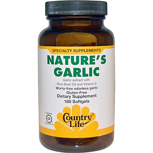 Country Life, Nature's Garlic, 180 - Garlic 180 Softgels