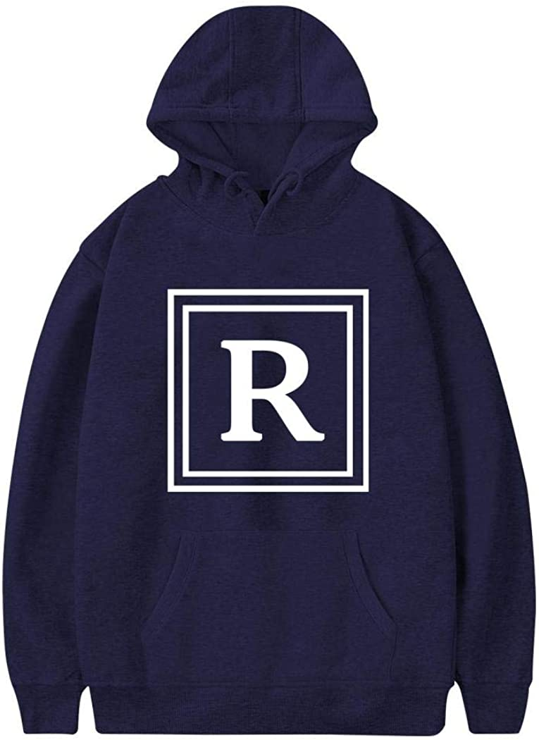 Smdmic Letter R Mens Sweatshirt Casual 3D Printed Long Sleeves Blouse