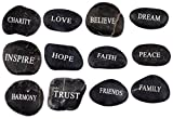 Engraved Inspirational Black Stones (12 Different Words- Large 2-3 Inches) from the Holy Land Review