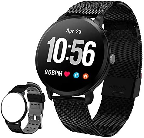 Smart Watch, Fitness Tracker for Android iOS with Heart Rate Blood Pressure Monitor, Waterproof Activity Tracker Watch with Sleep Blood Oxygen Monitor, Calorie Counter Pedometer for Women Men