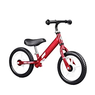 Balance Bike No Pedal Walking Bicycle with Aluminum Alloy Frame, for Kids 1-6 Year Olds (Red)