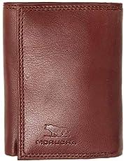 MORUCHA Mens RFID Blocking Tall Genuine Leather Billfold Wallet M30 (Brown)