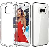 Galaxy S7 Edge Case, TOTU [Crystal Clear] TPU Grip Bumper + Transparent Back Panel [Scratch Resistant] Corner Protection Slim Fit protective Case Cover Accessories for Samsung Galaxy S7 Edge Warranty