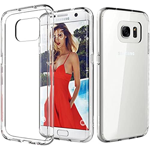 Galaxy S7 Edge Case, TOTU [Crystal Clear] TPU Grip Bumper + Transparent Back Panel [Scratch Resistant] Corner Sales