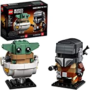 LEGO BrickHeadz Star Wars The Mandalorian & The Child 75317 Building Kit, Toy for Kids and Any Star Wars F