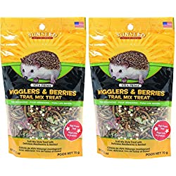 Sunseed Company-Vita Prima Hedgehog Treat-Wigglers & Berries 2.5 Ounce (2 Packs of 2.5 oz)