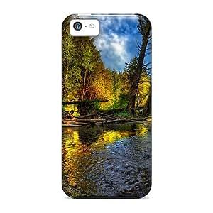 Excellent Design Forest Stream Hdr Phone Case For Iphone 5c Premium Tpu Case