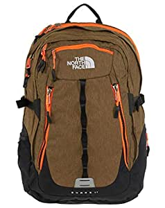 The North Face Surge 2 Backpack (Utility Brown Heather/Power Orange)