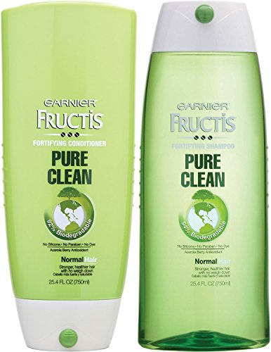 Clean Fortifying, DUO Set Shampoo + Conditioner, 25.4 Ounce, 1 Each (Garnier Fructis Fortifying Shampoo)