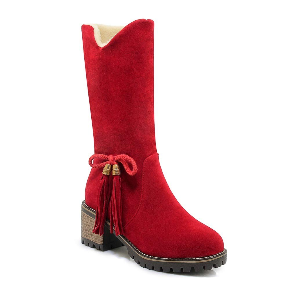 QINGMM Frauen Mode Schnee Schnee Schnee Stiefel 2018 Herbst Winter Futter High Heel Bogen Baumwolle Stiefel B07JPGSGJ2 Sport- & Outdoorschuhe Neueste Technologie 821615