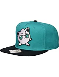 Pokemon Jigglypuff Embroidered Snapback Cap Hat, Turquoise