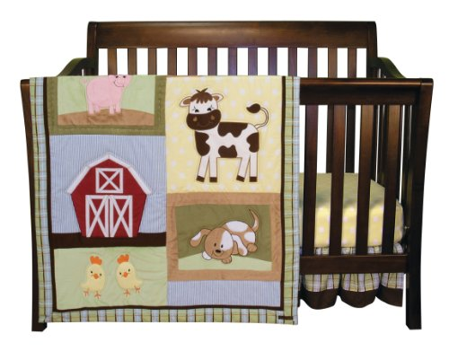 Trend Lab Baby Barnyard 3 Piece Crib Bedding Set - Farm Animal Crib Sets